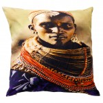 Kussen African Tribe Woman; 45x45 cm (12-004)