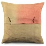 vtwonen Linnen kussen tie & dye roze/licht bruin 50x50cm