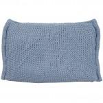 BePure Beanbag kussen Blauw-grijs 40x60 cm (Blauw-grijs)